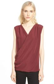 Trouv Sleeveless SurpliceTop in Burgundy at Nordstrom