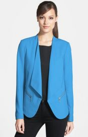 Trouvand233 Open Front Zip Pocket Blazer at Nordstrom