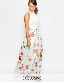 True Violet Sateen Ball Maxi Skirt at asos com at Asos