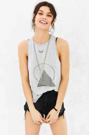 Truly Madly Deeply Moon Halo Racerback Tank Top at Urban Outfitters