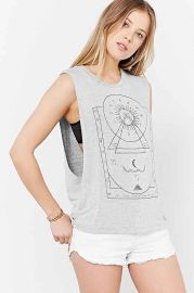 Truly Madly Deeply Mystical Chart Muscle Tee at Urban Outfitters