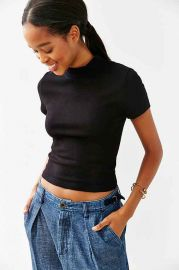 Truly Madly Deeply Vanessa Mock-Neck Top at Urban Outfitters