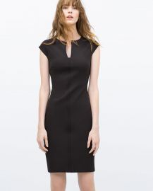Tube dress with raglan sleeves at Zara