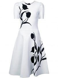 Tulip Intarsia Knit Dress Carolina Herrera at Farfetch