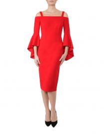 Tulip Red Crepe Dress by Anthea Crawford at Myer