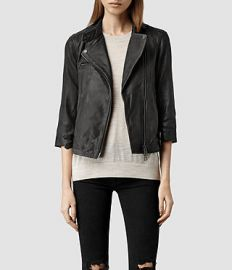 Turne Leather Biker Jacket at All Saints