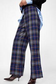 Turned-up Hem Plaid Pants by Zara at Zara