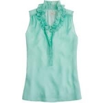 Turquoise Naomi top from JCrew at J. Crew