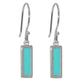 Turquoise Rectangle drop earrings at Target
