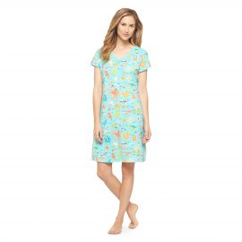 Turquoise Sea Print Nightgown at Target