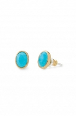 Turquoise stud earrings like Carries at Stella & Dot
