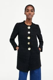 Tweed Coat with Buttons by Zara at Zara