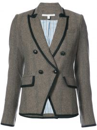 Tweed Fitted Blazer by Veronica Beard  at Farfetch