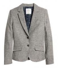 Tweed Herringbone Blazer at H&M