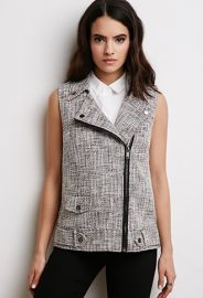 Tweed Moto Vest  Forever 21 - 2000079224 at Forever 21