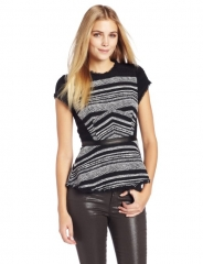 Tweed Peplum Top by Rebecca Taylor at Amazon