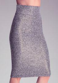 Tweed Zip Midi Skirt at Bebe