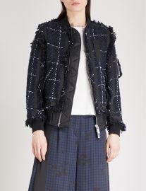 Tweed bomber jacket by Sacai at Selfridges