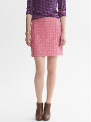 Tweed mini skirt at Banana Republic
