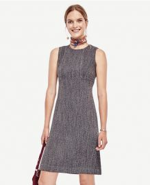 Tweed seamed shift dress at Ann Taylor