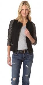 Tweed sleeve jacket by Dolan at Shopbop