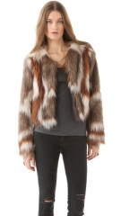 Twelfth St by Cynthia Vincent Faux Fur Jacket at Shopbop