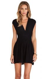 Twelfth Street By Cynthia Vincent Smocked Mini Dress in Black  REVOLVE at Revolve