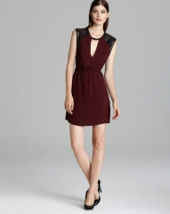 Twelfth Street by Cynthia Vincent Dress - Etched Leather Mini at Bloomingdales