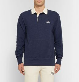 Twill-Trimmed Slub Cotton-Jersey Polo Shirt at Mr Porter