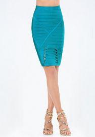 Twist Detail Bandage Skirt at Bebe