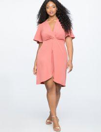 Twist Front Dress  Eloquii at Eloquii
