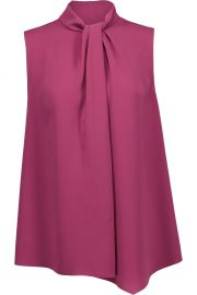 Twisted crepe de chine shirt by Max Mara at The Outnet