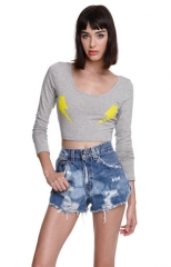 Two Bolts Crop Top at Pacsun