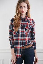 Two-Pocket Plaid Flannel Shirt  Forever 21 - 2000053412 at Forever 21