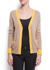 Two Tone Cardigan at Mango