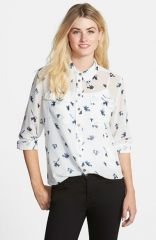 Two by Vince Camuto Print Utility Blouse at Nordstrom