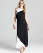 Two tone maxi dress by Aqua at Bloomingdales
