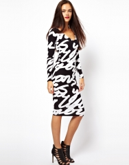 Typography BodyCon Dress at Asos