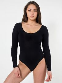 U Neck Bodysuit at American Apparel
