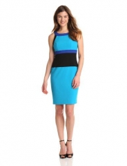 U-neck colorblock dress by Calvin Klein at Amazon