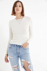UO PIPA THERMAL LONG SLEEVE TOP at Urban Outfitters