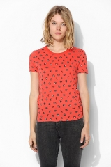 UO Printed Crew-Neck Tee at Urban Outfitters