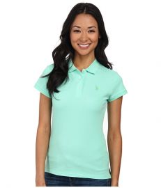 US POLO ASSN Solid Small Pony Polo Mint at 6pm