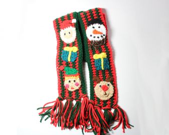 Ugly Christmas Scarf at Etsy