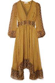 Ulla Johnson   Amabelle printed silk-jacquard midi dress at Net A Porter