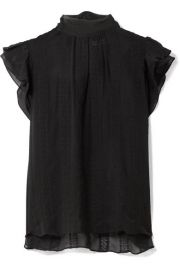Ulla Johnson   Heddy embroidered silk-georgette top at Net A Porter