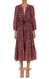 Ulla Johnson Clementine Floral Cotton-Silk Midi-Dress at Barneys