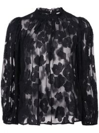Ulla Johnson Sandrine Floral Blouse at Farfetch