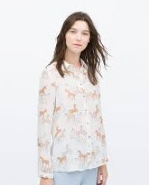 Unicorn print shirt at Zara