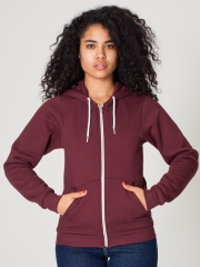 Unisex Flex Fleece Zip Hoodie in Truffle at American Apparel
